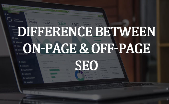 difference between on-page and off-page seo
